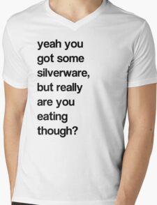 SILVER WHAT? Mens V-Neck T-Shirt