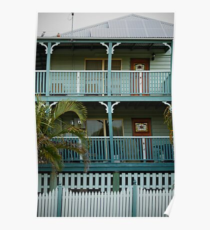 The sea-green house by the sea-green sea Poster