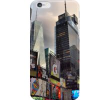 Times Square skyscrapers iPhone Case/Skin