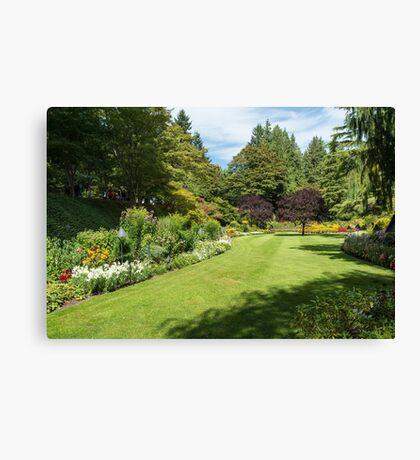 Garden Rooms, Butchart Gardens Canvas Print