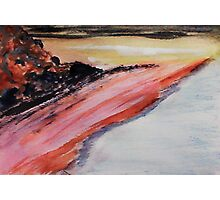 Beach to eternity, abstract, watercolor Photographic Print