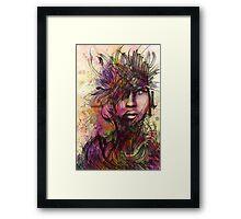 Expression Portrait Framed Print