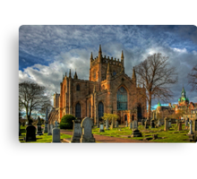 Church and Tower Canvas Print