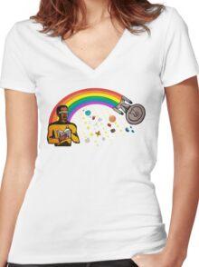 A Trek Anywhere Women's Fitted V-Neck T-Shirt