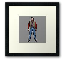 NOW IS THE FUTURE - Marty Mcfly 1955 Framed Print