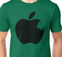 And the Android Takes A Bite Into the Apple Unisex T-Shirt
