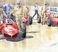 Monaco GP 1961 Ferrari 156 Sharknose by Yuriy Shevchuk