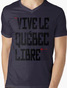 VIVE LE QUEBEC LIBRE Mens V-Neck T-Shirt