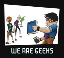 We are geeks dark edition Kids Clothes
