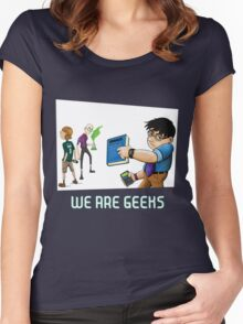 We are geeks dark edition Women's Fitted Scoop T-Shirt