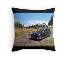 Squareback on Railway Track Throw Pillow