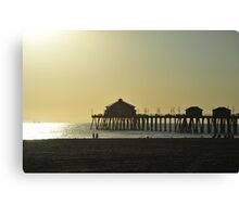 The Pier in sunset Canvas Print