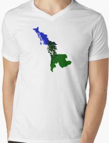 Cascadia Mens V-Neck T-Shirt