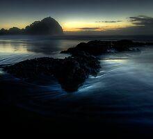 Fading light, O'Neills Beach by Michael Treloar
