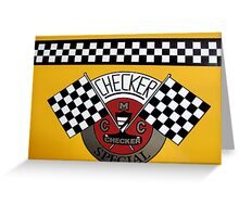 Checkered Cab Greeting Card