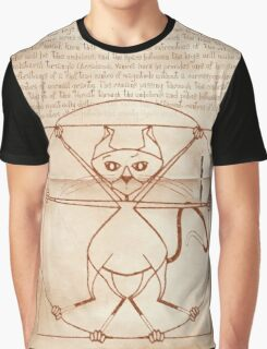KINKY KITTY - The Kinky Vitruvian Kitty Graphic T-Shirt