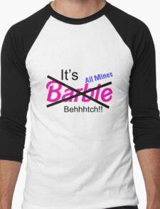 """""""Not Barbie"""" (BLACK) Men's Baseball ¾ T-Shirt"""