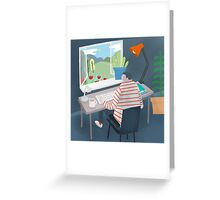 Working Window Greeting Card