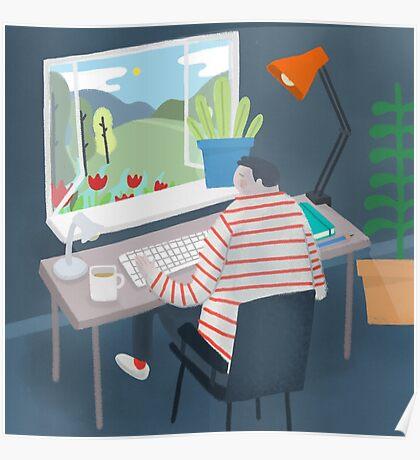 Working Window Poster