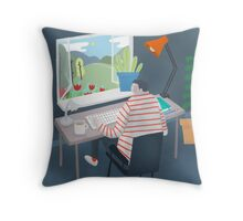 Working Window Throw Pillow