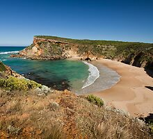 View across the beach at Childers Cove, Victoria, Australia by Roger Neal