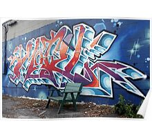 Graffiti and Bench Poster