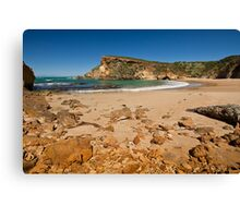 Low tide on the beach at Childers Cove, Victoria, Australia Canvas Print