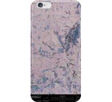 USGS Topo Map Washington State WA Pe Ell 20110406 TM Inverted iPhone Case/Skin