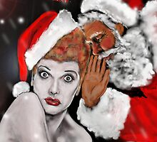 LUCILLE BALL as SANTAS BABY ! by Ray Jackson
