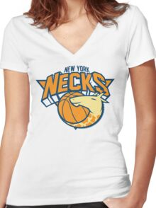New York Necks Women's Fitted V-Neck T-Shirt