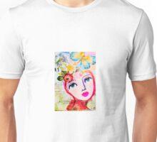 Butterfly neon girl Unisex T-Shirt