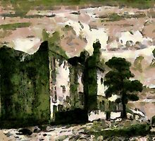 Ruins of Sheffield Manor, England 1819 by Dennis Melling