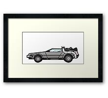 NOW IS THE FUTURE - Delorean 1985 Framed Print
