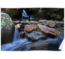 Stone Waterfall Poster