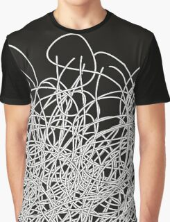 Black and white tangled wires Graphic T-Shirt