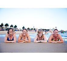 Beach Girls Photographic Print