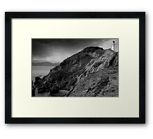 Castle Point Lighthouse, New Zealand Framed Print