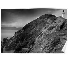 Castle Point Lighthouse, New Zealand Poster
