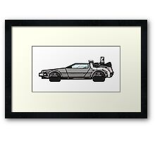 NOW IS THE FUTURE - Delorean 2015 Framed Print