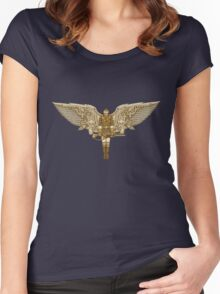Steampunk T-shirt Peregrine 1 Women's Fitted Scoop T-Shirt