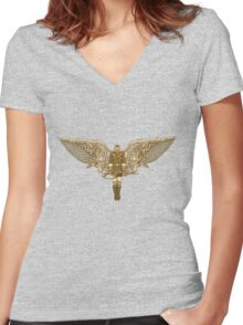 Steampunk T-shirt Peregrine 1 Women's Fitted V-Neck T-Shirt