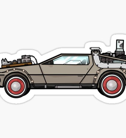 NOW IS THE FUTURE - Delorean 1955 Sticker
