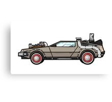 NOW IS THE FUTURE - Delorean 1955 Canvas Print