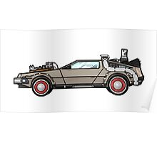 NOW IS THE FUTURE - Delorean 1955 Poster