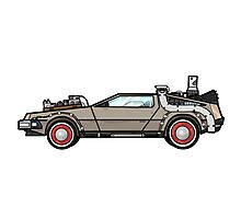 NOW IS THE FUTURE - Delorean 1955 Photographic Print
