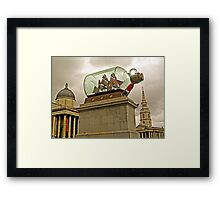 Dome, Spire and Ship in a Bottle (soon to sail away) Framed Print