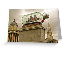 Dome, Spire and Ship in a Bottle (soon to sail away) Greeting Card