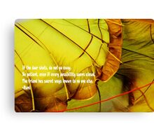 Rumi poem Canvas Print