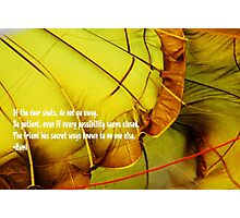 Rumi poem Photographic Print