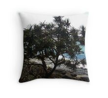 Coastal path Yamba NSW Throw Pillow